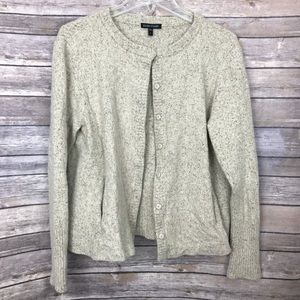•Eileen Fisher• Cream Speckled Cardigan Sweater